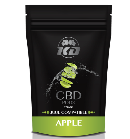 250mg Apple Juul Compatible CBD Pod - Knockout CBD