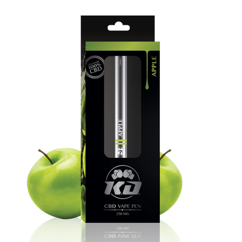 250mg Apple CBD Disposable Vape Pen - Knockout CBD