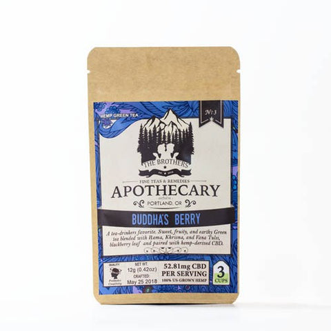 52.81mg CBD Infused Buddha's Berry & Mellow Mint Teas 2 Pouches - The Brothers Apothecary