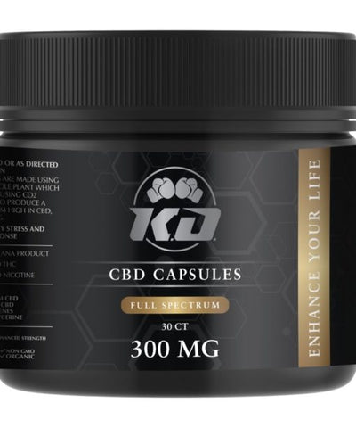 300mg Full Spectrum CBD Soft Gel Capsules 30ct Bottle - Knockout CBD