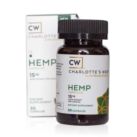 450mg Simply Hemp Capsules 30ct Bottle - Charlotte's Web