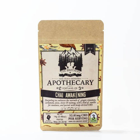 52.81mg CBD Infused Chai Awakening Tea 3 Teabags/Pouch - The Brothers Apothecary