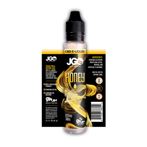 625mg Honey Infused CBD E-Liquid 30ml - Jolly Green Oil