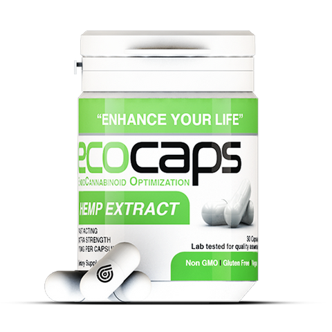 30mg Ecocaps Full-Spectrum CBD Capsules 30ct Bottle- Eco Sciences