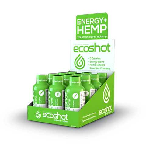 25mg ECOShot CBD Power Hemp Energy Drink  60ml Btl/12ct Box - CBD Drip