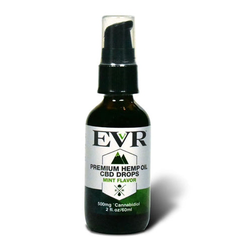 500mg CBD Mint Flavor Premium Hemp Oil Drops 60ml - EVR™ CBD
