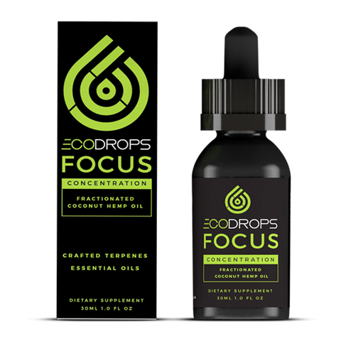 1500mg EcoDrops Focus Full-Spectrum CBD Tincture 30ml - Eco Sciences