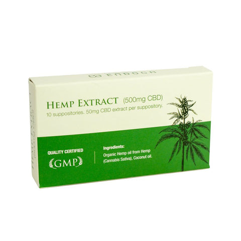500mg CBD Suppositories 10pk - Endoca