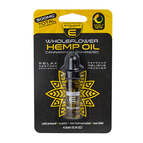 500mg Wholeflower Hemp CBD Oil 4.16ml - Entourage