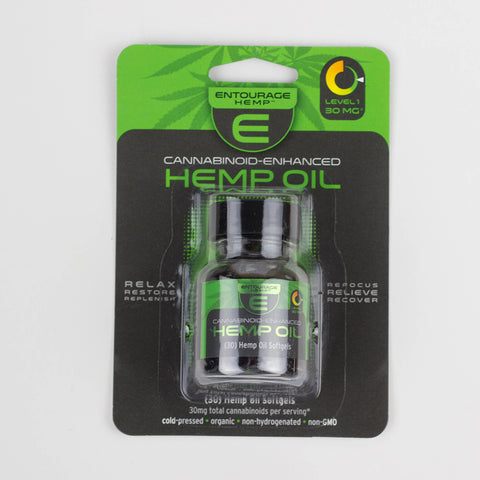 450mg CBD Hemp Oil Softgels 30ct Bottle - Entourage