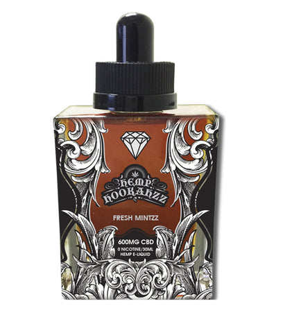 600mg Fresh Mintzz CBD Diamond E-Liquid 30ml - Hemp Hookahzz