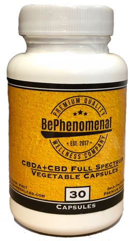25mg CBDa +CBD Full Spectrum Capsules 30ct - Be Phenomenal Wellness Company