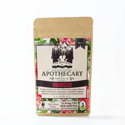 52.81mg CBD Infused Highbiscus & Oolong Passion Teas 2 Pouches - The Brothers Apothecary