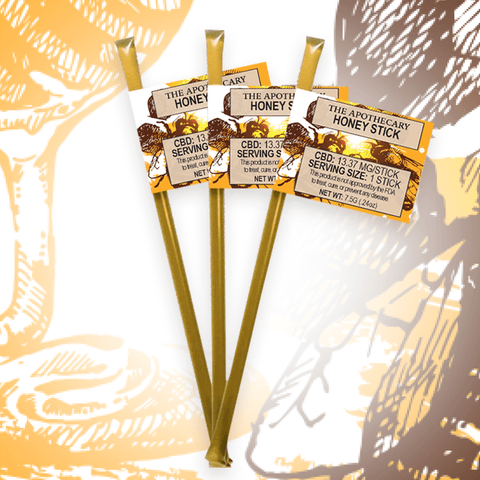 13.37mg CBD Honey Sticks (5 Sticks/Pack) - The Brothers Apothecary
