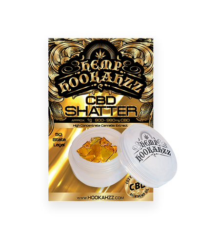 940mg CBD Concentrate Shatter 1 Gram - Hemp Hookahzz