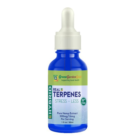 500mg Real Terpenes Hybrid CBD Tincture 30ml - Green Garden Gold