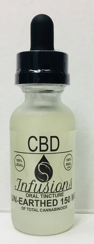 150mg CBD Unearthed Tincture 30ml - CBD Infusions