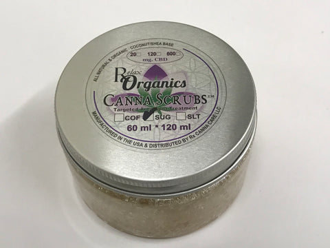 20mg CBD Sugar Canna Scrub 60ml Jar - RxCannaCare