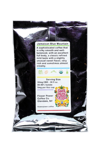 30mg CBD Jamaican Blue Mountain Coffee (2)-1oz Sachets - Flower Power Coffee Co.