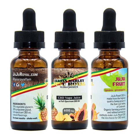 900mg JuJu Fruit CBD Vape Juice 30ml - Julian Marley Juju Royal