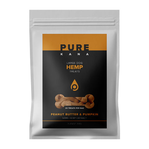 50mg Peanut Butter & Pumpkin Large Dog Hemp Treats 3.25oz - PureKana