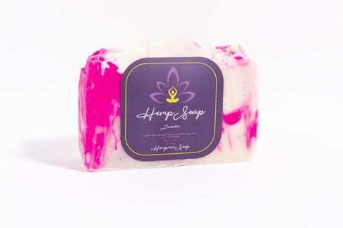 Lavender Hemp Soap Bar - Hemperia Soap