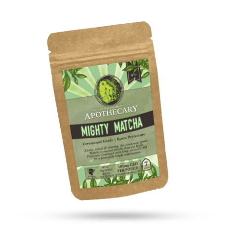 100mg CBD Infused Mighty Matcha Tea 1 Teabag/Pouch - The Brothers Apothecary