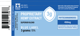 450mg Decarboxylated CBD Oil Blue Label 3 Grams - Proprietary Hemp Extract