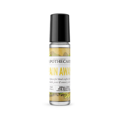 100mg Pain Away CBD Essential Oil Roller 10ml - The Brothers Apothecary