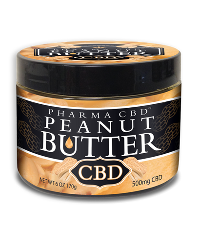 500mg CBD Peanut Butter 6oz jar - Pharma Hemp