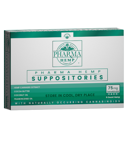 75mg Hemp CBD Suppository 5ct - Pharma Hemp
