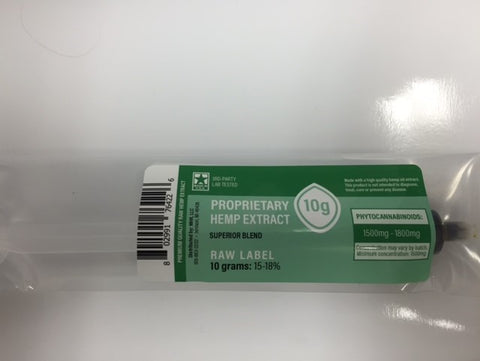 1500mg Raw CBD Oil Green Label 10 Grams - Proprietary Hemp Extract