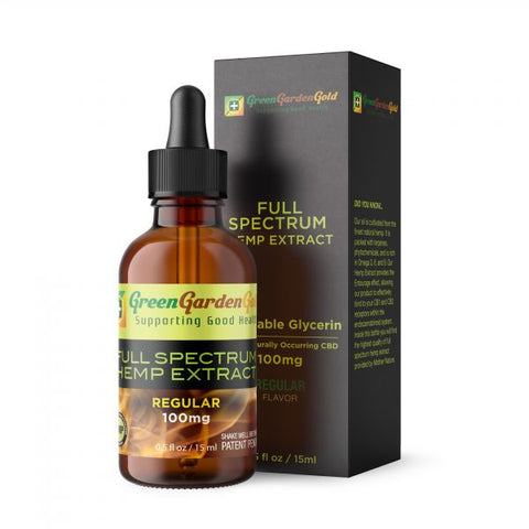 100mg Regular VG Blended CBD Oil Vape/Drip 15ml - Green Garden Gold