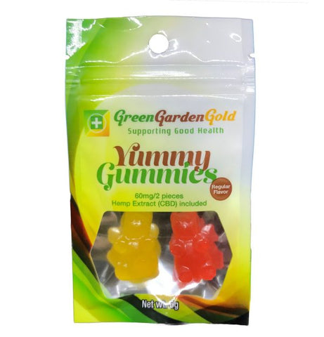 60mg CBD Yummy Gummies 2ct Bag - Green Garden Gold