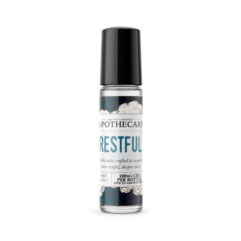 100mg Restful CBD Essential Oil Roller 10ml - The Brothers Apothecary