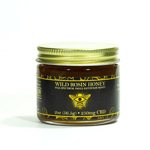 250mg CBD Infused Wild Rosin Honey 2oz Jar - The Brothers Apothecary