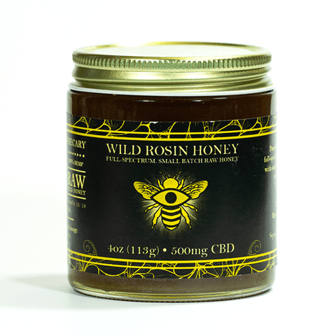 500mg CBD Infused Wild Rosin Honey 4oz Jar - The Brothers Apothecary