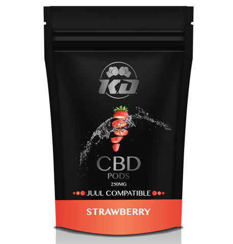 250mg Strawberry Juul Compatible CBD Pod - Knockout CBD