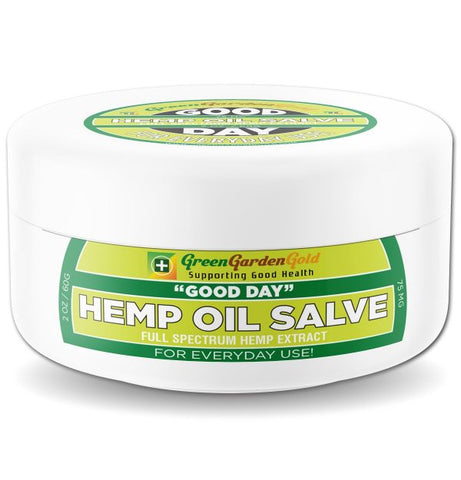 75mg Good Day CBD Hemp Oil Salve 2oz Jar - Green Garden Gold