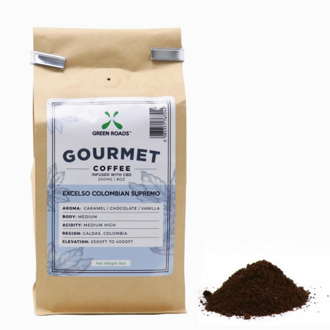 250mg  CBD Infused Gourmet Coffee 8oz Bag - Green Roads
