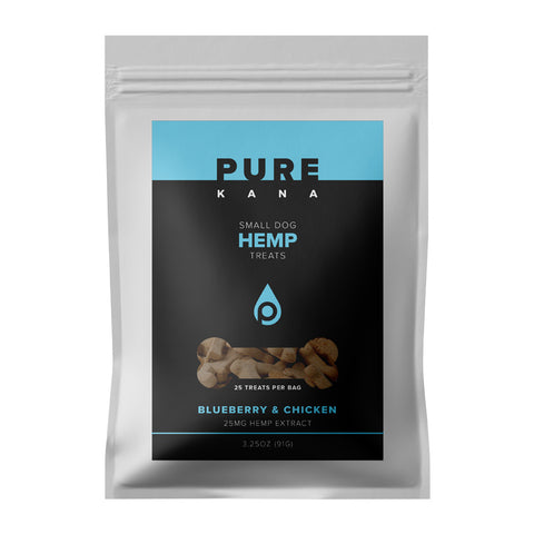 25mg Blueberry & Chicken Small Dog Hemp Treats 3.25oz - PureKana