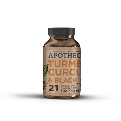8mg CBD Infused Turmeric Capsules 84ct - The Brothers Apothecary