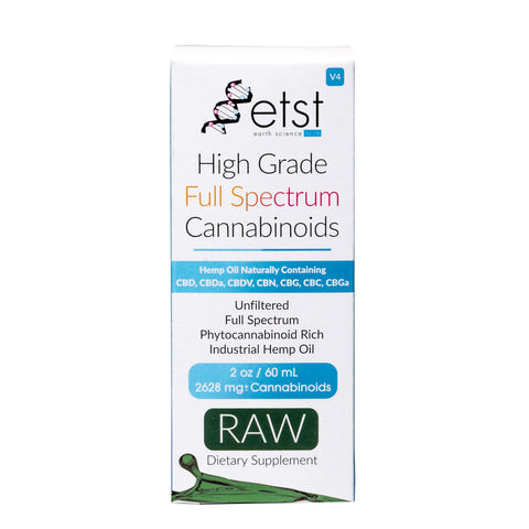 2628mg High Grade Full Spectrum CBD Raw Oil 60ml - ETST