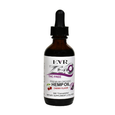 500mg  Cherry Zero THC Premium Hemp Oil CBD Tincture 60ml - EVR™ CBD