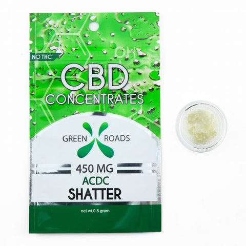 450mg ACDC CBD Shatter 0.5Grams - Green Roads