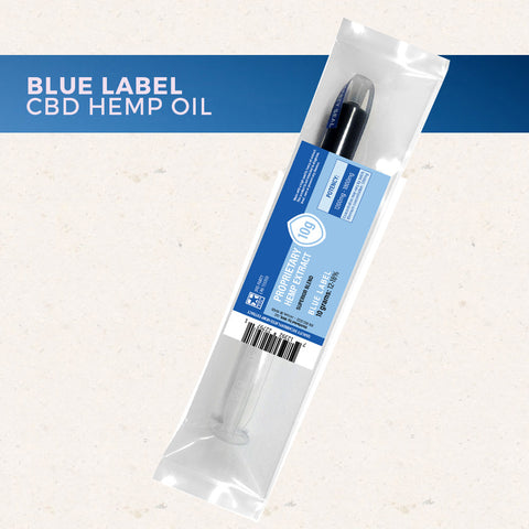 1500mg Decarboxylated CBD Oil Blue Label 10 Grams - Proprietary Hemp Extract
