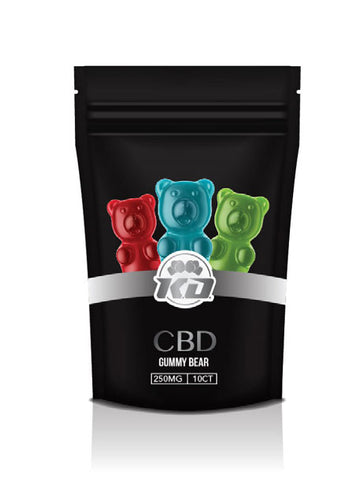 100mg Organic CBD Gummy Squares 10ct Bag - Knockout CBD