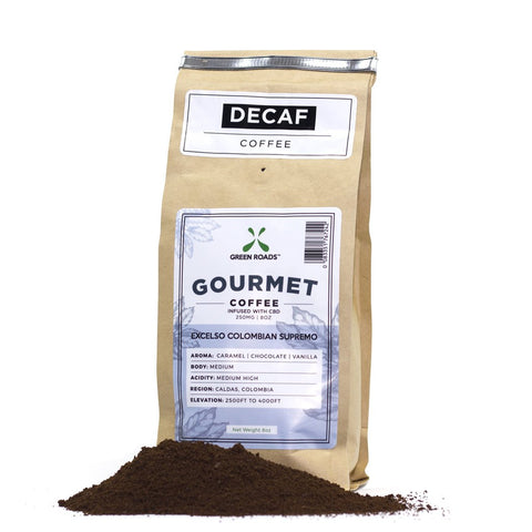 250mg  CBD Infused Gourmet Decaf Coffee 8oz Bag - Green Roads