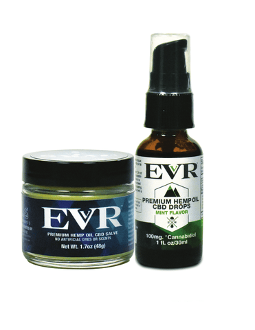 CBD Premium Hemp Oil Salve & Premium Hemp Oil Drops Bundle - EVR™ CBD