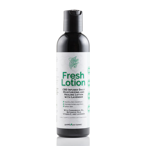 500mg CBD FreshLotion 4oz - FreshLeaf CBD